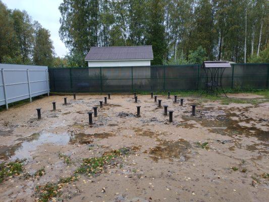 Свайно-винтовой фундамент в Белоострове
